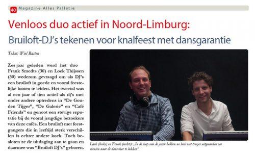 interviews met beste djs van limburg disco feest